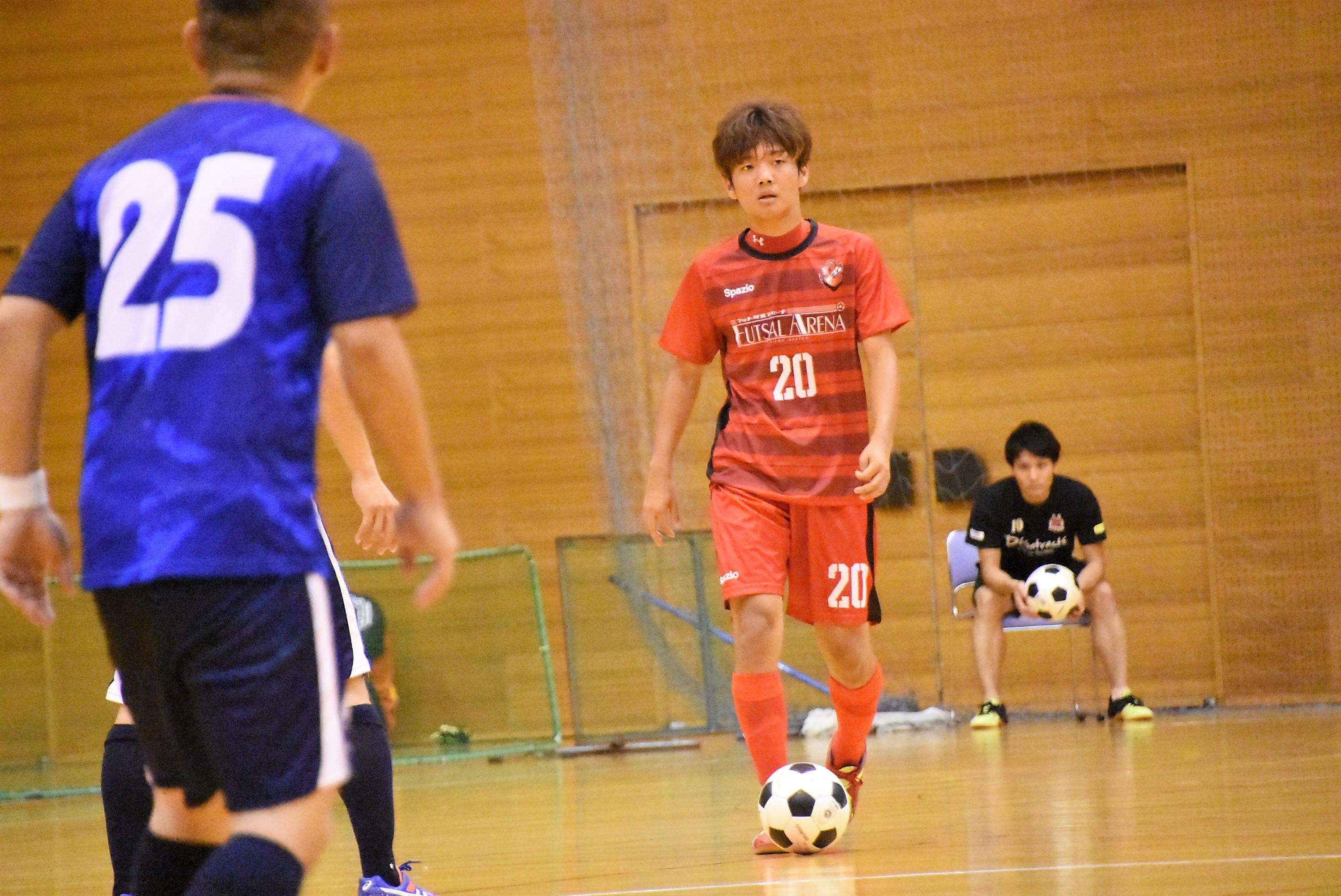 【愛知県1部第3節インタビュー】PRIDE/futsal arena 奥村 玲音選手「両足で仕掛けることができるのでそこには自信を持っています」