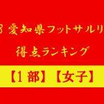 2018愛知県フットサルリーグ 得点ランキング 【1部】【女子】